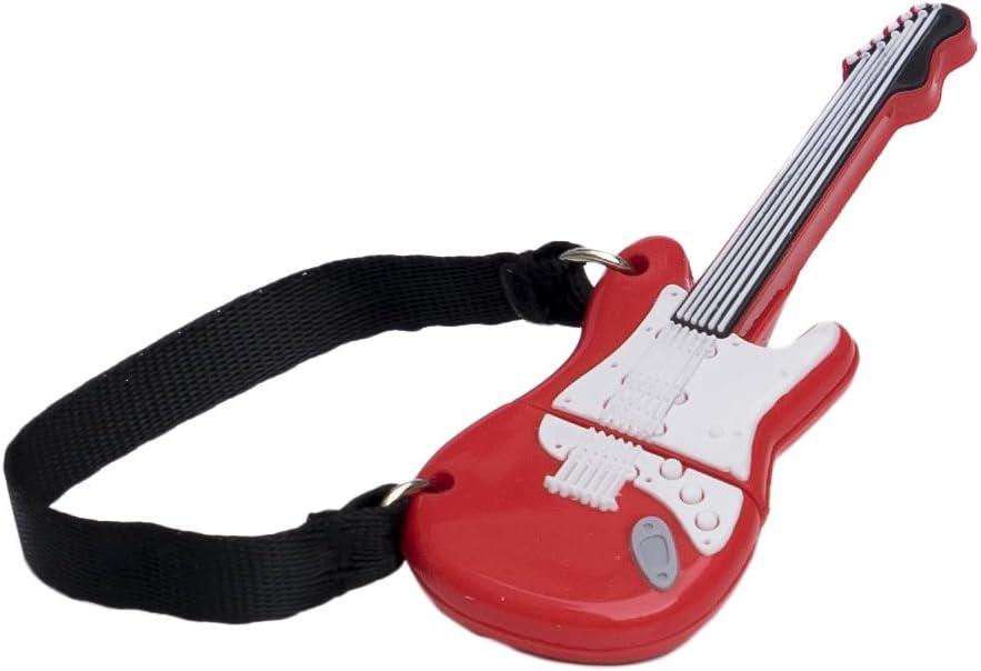 Tech One Tech - Memoria USB 16 GB, diseño Guitarra roja