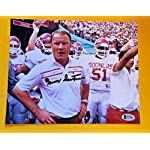 2c1d704d5 Barry Switzer Autographed Signed Memorabilia 8x10 Oklahoma Sooners Photo -.