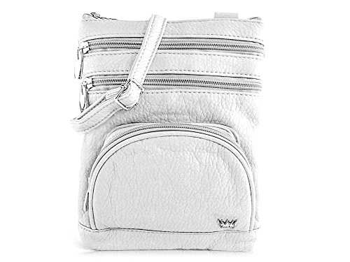 Leather French Classic Handbag (Purse King Mini Duchess French Vanilla - White Cross Body Bag)