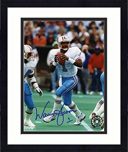 Warren Moon Framed Photo - Framed Warren Moon Houston Oilers Autographed 8