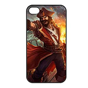 Gangplank-001 League of Legends LoL case cover for Apple iPhone 4 / 4S - Plastic Black