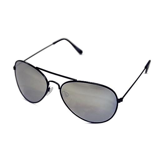7ee748b403 Amazon.com  Unisex Kid Sized Aviator Sunglasses W  Silver Mirrored ...