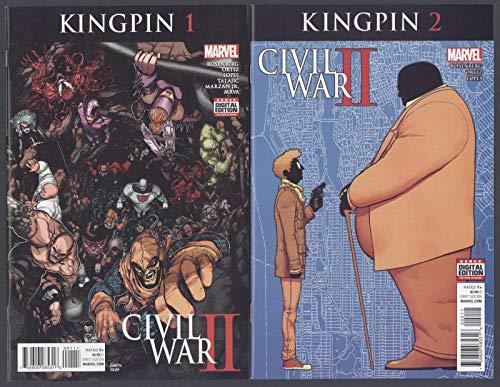 Civil War 2 (II) Kingpin #1-3 Full Set Complete Run Marvel Comics 2016 CBX40B