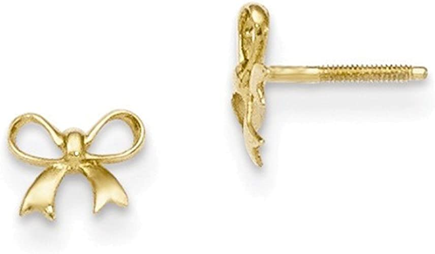 14kt Yellow Gold Madi K Bow Post Earrings