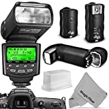 Altura Photo Professional Flash Kit for NIKON DSLR - Includes: I-TTL Flash (AP-N1001) - Wireless Flash Trigger Set and Accessories
