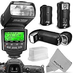 Altura Photo Professional Flash Kit For Nikon Dslr - Includes: I-ttl Flash (Ap-n1001), Wireless Flash Trigger Set & Accessories 0