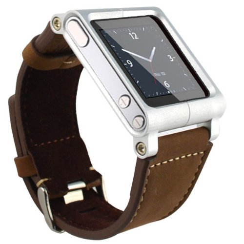 SQdeal Collection iPod Nano 6th Gen Wrist Strap Watch Band Case,with Adjustable length Function (Brown leather bracelet)