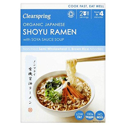 Clearspring orgánico japonés Shoyu ramen fideos con salsa de soja 170 g sopa