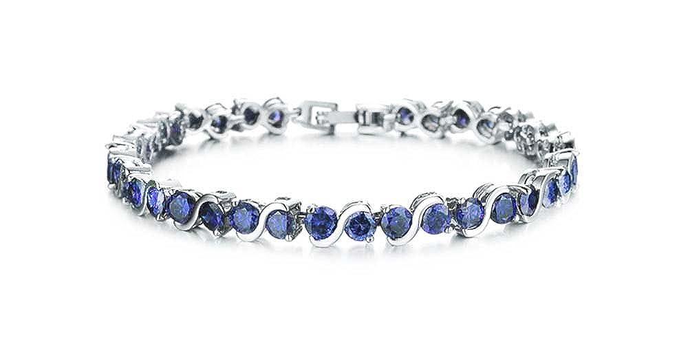 findout Dames cubique Cristal Zircon Fê te de Mariage de Mode Bracelets de Tennis de Luxe. pour Les Femmes Les Filles, (1714) f1714