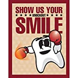 Practicon 512076'' Show Us Your Knockout Smile Laser Card (50 sheets per Pack, 200 Total)
