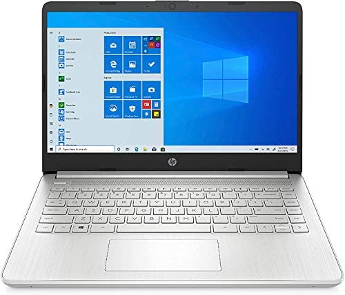 "Newest HP 14"" HD Laptop, Intel Core i5-1035G1, Intel UHD Graphics, 8GB SDRAM, 256GB SSD, Natural Silver, Windows 10"