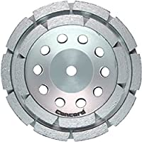 """Concord Blades GCD040AHP 4 Inch Double Rowed Diamond Cup Wheel with 7/8""""-5/8"""" Arbor"""