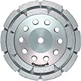 Concord Blades GCD045FCP 4.5 Inch Double Row Diamond Cup Wheel with 5/8''-11 Thread