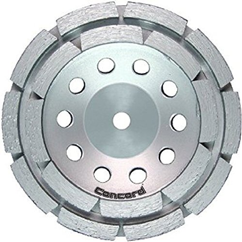 (Concord Blades GCD040FCP 4 Inch Double Row Diamond Cup Wheel with 5/8