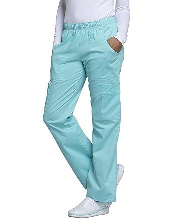 4ce54dc6f43 Cherokee Core Stretch Workwear Women's Elastic Waist Scrub Pant Large  Tahiti Sweetie