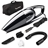Car Vacuum, Tsumbay 5000PA Strong Suction Vacuum DC 12V 120W Wet/Dry Portable Handheld Vacuum Cleaner Auto Dust Buster with 14.8 Feet Power Cord, Black