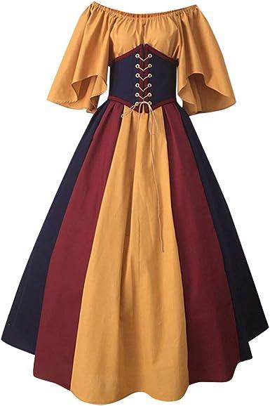 Fossenfeliz Disfraces Medievales Mujer De Bruja Reina Vestidos De Fiesta Mujer Tallas Grandes Disfraces Originales Adulto Para Cosplay Endimiento Drama Amazon Es Ropa Y Accesorios