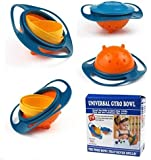 Shopo's Universal 360 Degrees Rotates Spill Proof & No Mess Gyro Bowl For Baby Kids