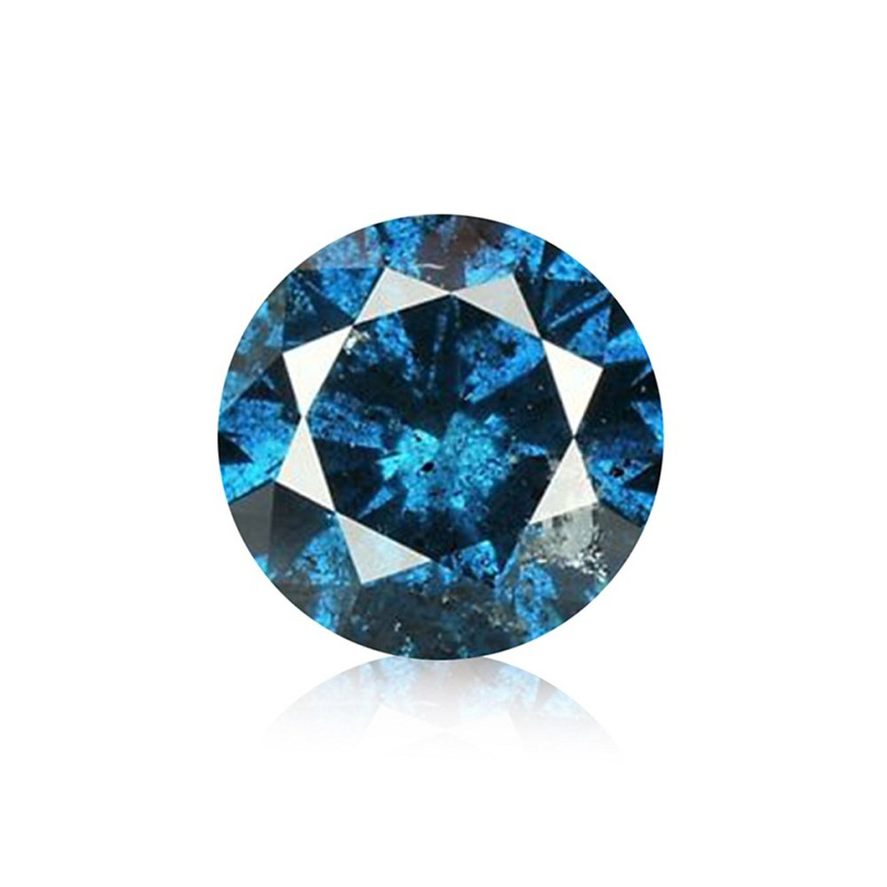 0.12 ct Blue Diamond Round Brilliant Cut Loose Diamond Natural Earth-mined Enhanced (I1-I2)