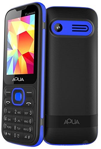 Aqua Fusion  2.4 inch Display, Dual Sim, Black Blue