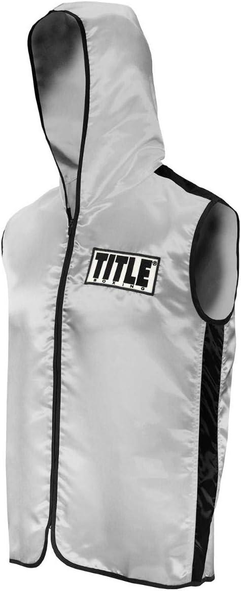 Title Boxing ノースリーブリングベスト シルバー/ブラック Youth Medium
