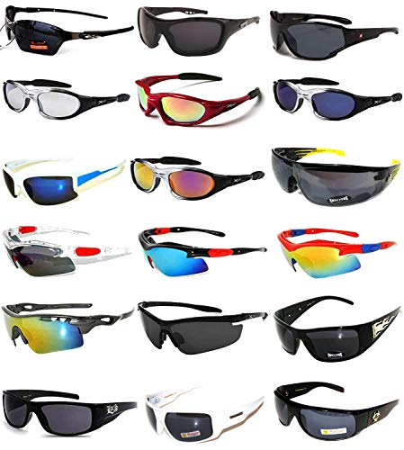 (18 Pieces Wholesale Lot Men Mix Sunglasses Assorted Models Fashion Men's Bulk)