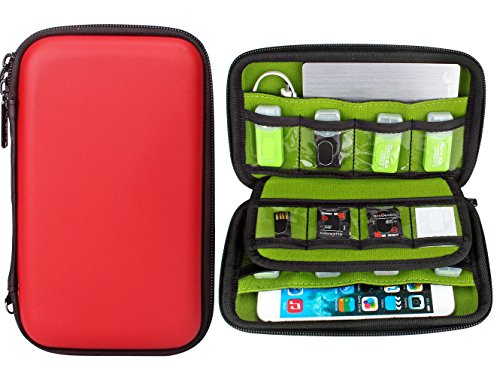 Aprince Digital Gadget Case Waterproof Memory Card Case, Designed For External Hard Drive,USB Flash Drives,Power Banks - Best for Traveling