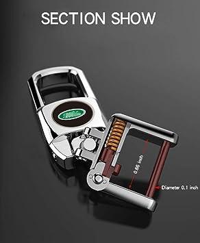 Feeke Flip Car Keychain for Land Rover Heavy Duty Key Chain