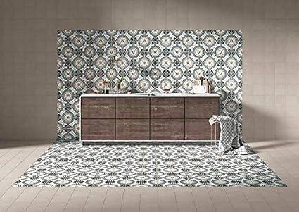 Reverie Porcelain 8 x 8 Patterned Floor Tiles Decor 10-8 Square Feet