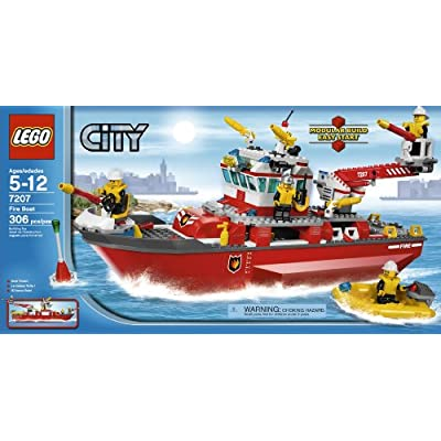 LEGO City Fire Ship (7207): Toys & Games