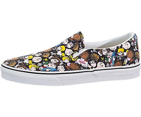 Vans X Peanuts Classic Slip-On (Peanuts) The Gang/Black VN0A38F7OQX Mens 10.5, Womens - Vans On Sneakers Slip