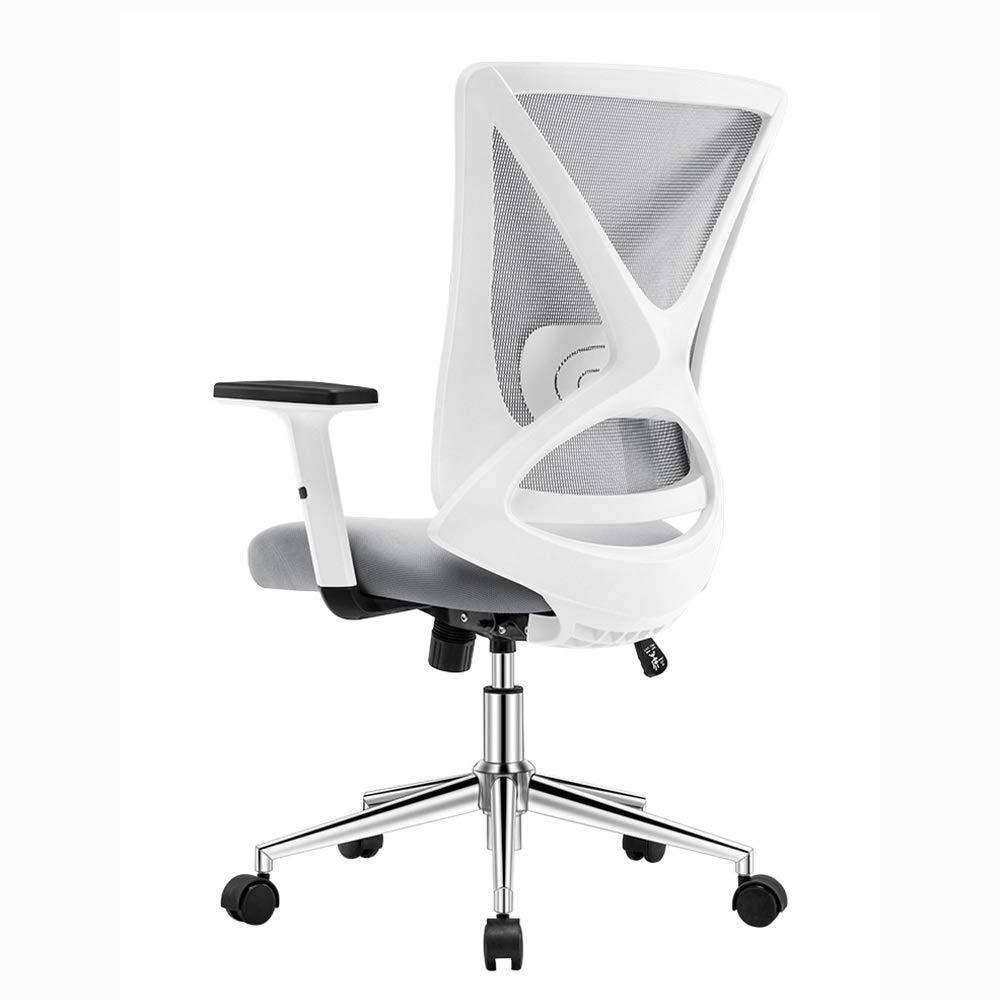 ZZHZY Swivel kontorsstol, dator stol, kontor förstärkning skarv armstöd stol, fåtölj, ergonomisk stol, lyftstol, praktisk nätstol, 3 färger uppgift stol Svart vit