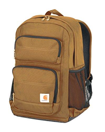 - Carhartt Legacy Standard Work Backpack with Padded Laptop Sleeve and Tablet Storage, Carhartt Brown