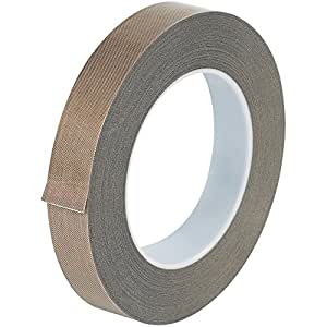 """Teflon T964213 PTFE Glass Cloth Backing Adhesive Tape, 36 yds Length x 3/4"""" Width, 3 mil Thick, Brown"""