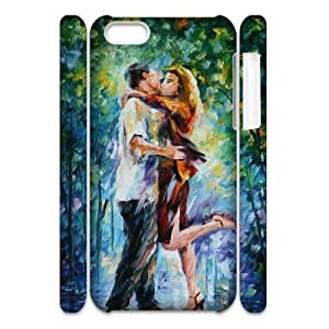 Cell phone 3D Bumper Plastic Case Of The Kiss For iPhone 5C