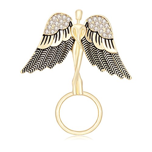 TUSHUO Angel Spread The Wings with Rhinestone Guardian Strong Magnetic Eyeglass ()