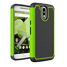 Moto G4 / G4 Plus Case, NOKEA [Shock Absorption] Hybrid Dual Layer Armor Defender Protective Case Cover for Motorola Moto G 4th Generation / Moto G Plus (2016) (Green)