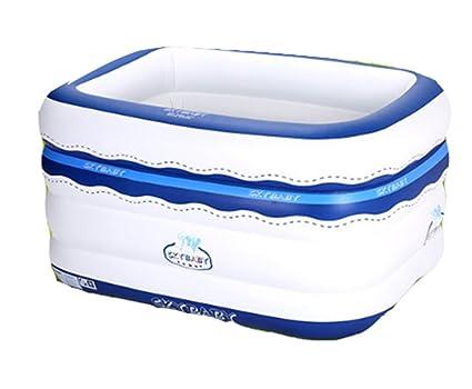 Durable Elegante Bañera inflable, plástico Protección del medio ambiente PVC Salud hogar redondo Tome un