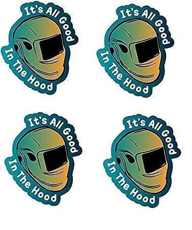 Amazon.com: Juego de 4 pegatinas con el logotipo de «Good ...