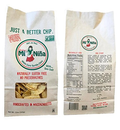 MI NINA, TORT CHIP, WHITE, SEA SALT - Pack of 12 by Tortil