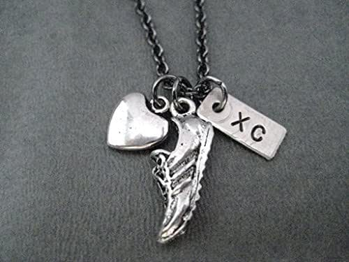 Running Shoe With Wings Necklace