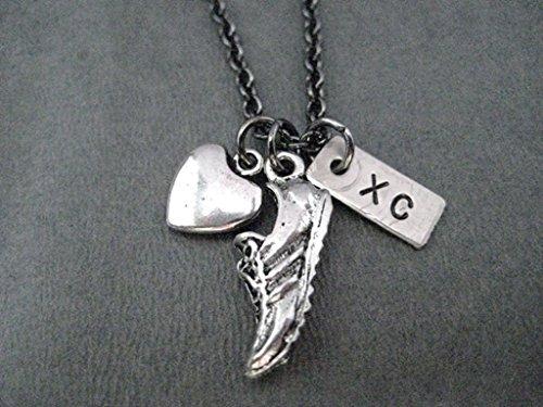 Run Cross Country Necklace Gunmetal