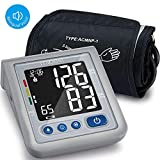 MIBEST Blood Pressure Monitor with Talking Function - Blood Pressure Cuff with Large Display - 8.7-12.6' BP Monitor Machine - One Touch BP Cuff - Blood Pressure Kit with Adapter and Batteries Include