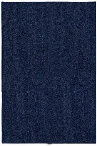 Ambiant Saturn Collection Pet Friendly Indoor Outdoor Area Rugs Navy – 8 x10