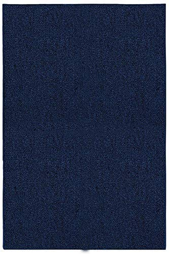 Ambiant Galaxy Way Solid Color Indoor Outdoor Area Rugs Navy – 5 x8