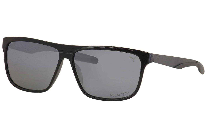 Puma PU 0221 S- 001 - Gafas de sol, color negro y plateado ...