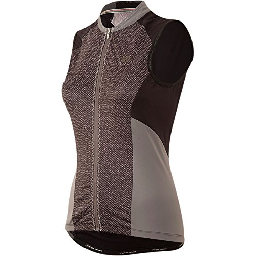 Pearl iZUMi Women's Elite Escape SL Jersey, Black Parquet Stripe, Medium