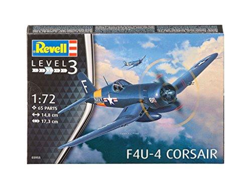 Revell - 03955 - Maquette - F4U - 4 Corsair - bleu - Échelle 1/72 - 65 pièces