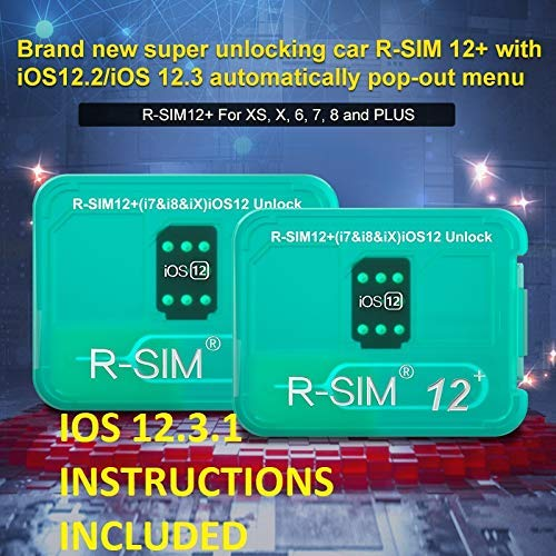 Rsim 12 Unlock Card Chip R sim Unlock Compatible with iPhone Xs/X/8/7/6/6s/5/G iOS 12.3 .1 Auto Unlock sim R-SIM12 R-sim Card Tool IOS12.3 Rsim 12+ Plus