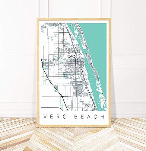 (Vero Beach Map Art Print - Map of Vero Beach Florida - Series II)